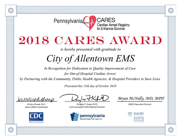 CARES Honors EMS