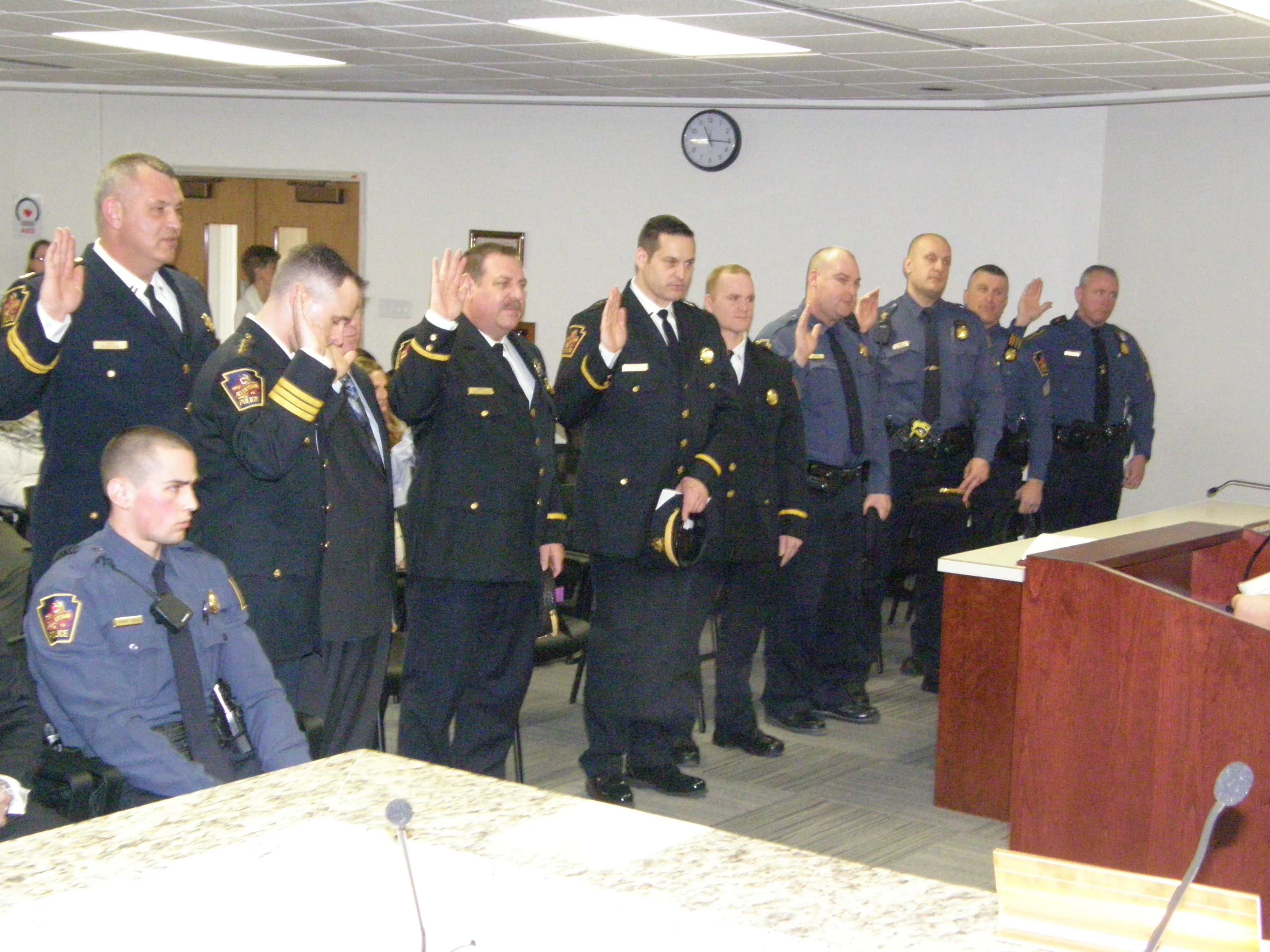 Promoted & New Officers Sworn-in